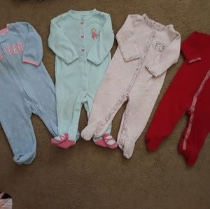 4 9 month Carters jammies